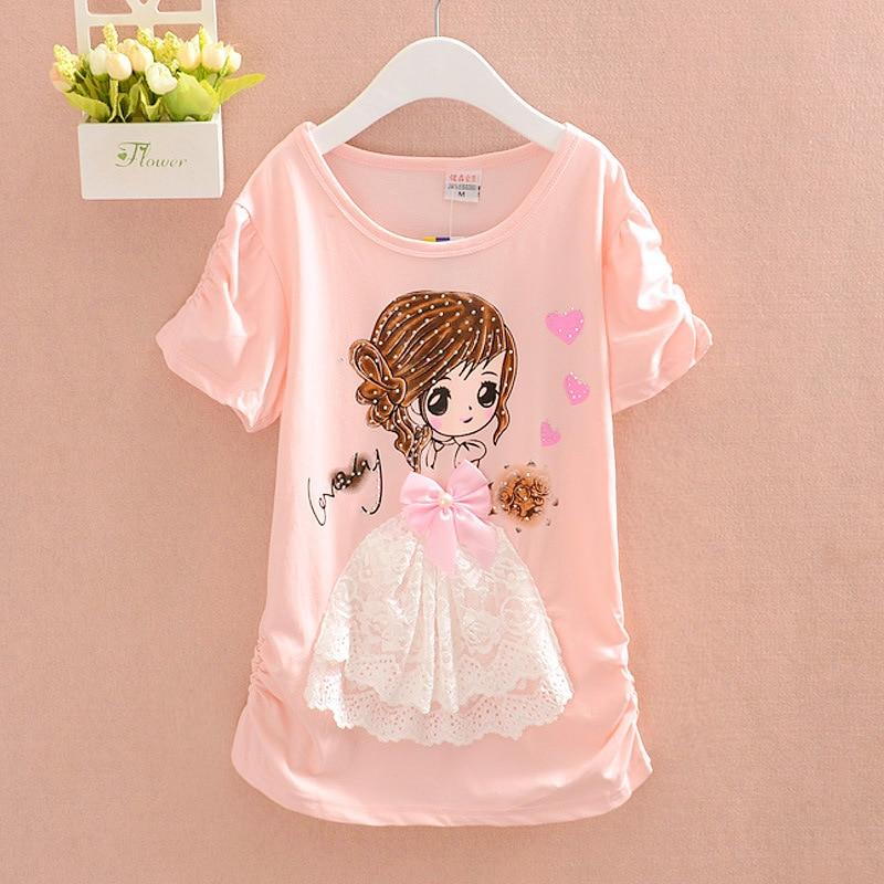 Toddler Girls Sweatshirt 100/% Cotton Crewneck Cute Cartoon Print Pink Sweatshirts Pullover Tops