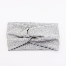 2017 New Arrival Women Colorful Cotton Knot Headbands Hair Holder Elastic Hairbands Fashion Stretch Headwraps Hair Accessories