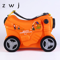 New style toy motorcycle shape Rolling Luggage Boy and Girl Kids Children Suitcase