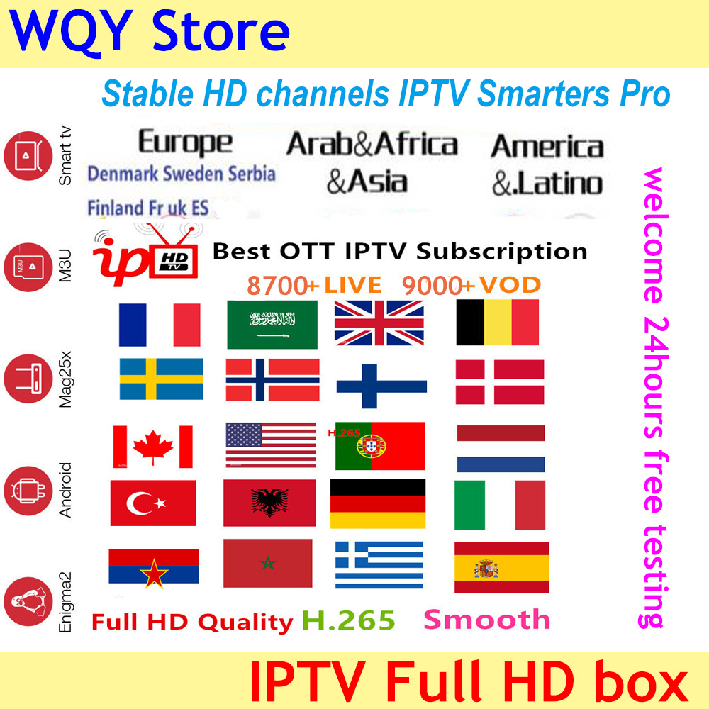 TX3 Mini IPTV Full HD 8700 Channels Arabic Germany Israel UK French Bulgaria Italy Spain Indian