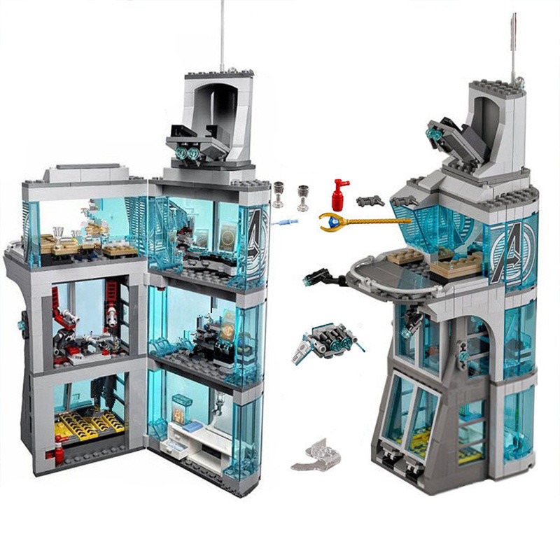 511 pièces Star wars Marvel Super héros Iron Man attaque sur tour vengeur modèle blocs de construction Copmatible starwars