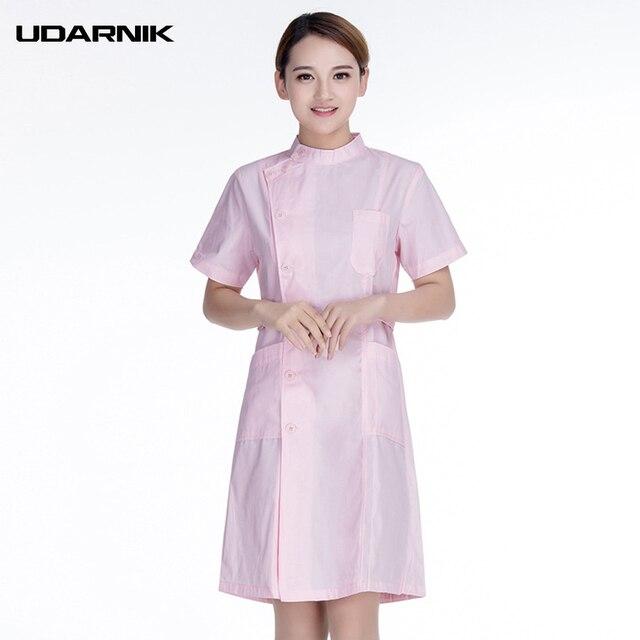 Women Nurse Uniform Short Sleeve Medical Clothing Lab Coat Work Suit ...