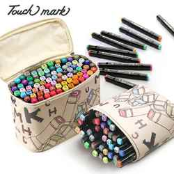Touch Mark 30/40/60/80/168Colors Pen Marker Set Dual Head Sketch Markers Brush Pen For Draw Manga Animation Design Art Supplies
