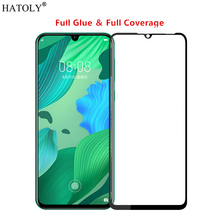 Huawei Nova 5 Glass Tempered for Film Full Glue Cover Hard Phone Screen Protector