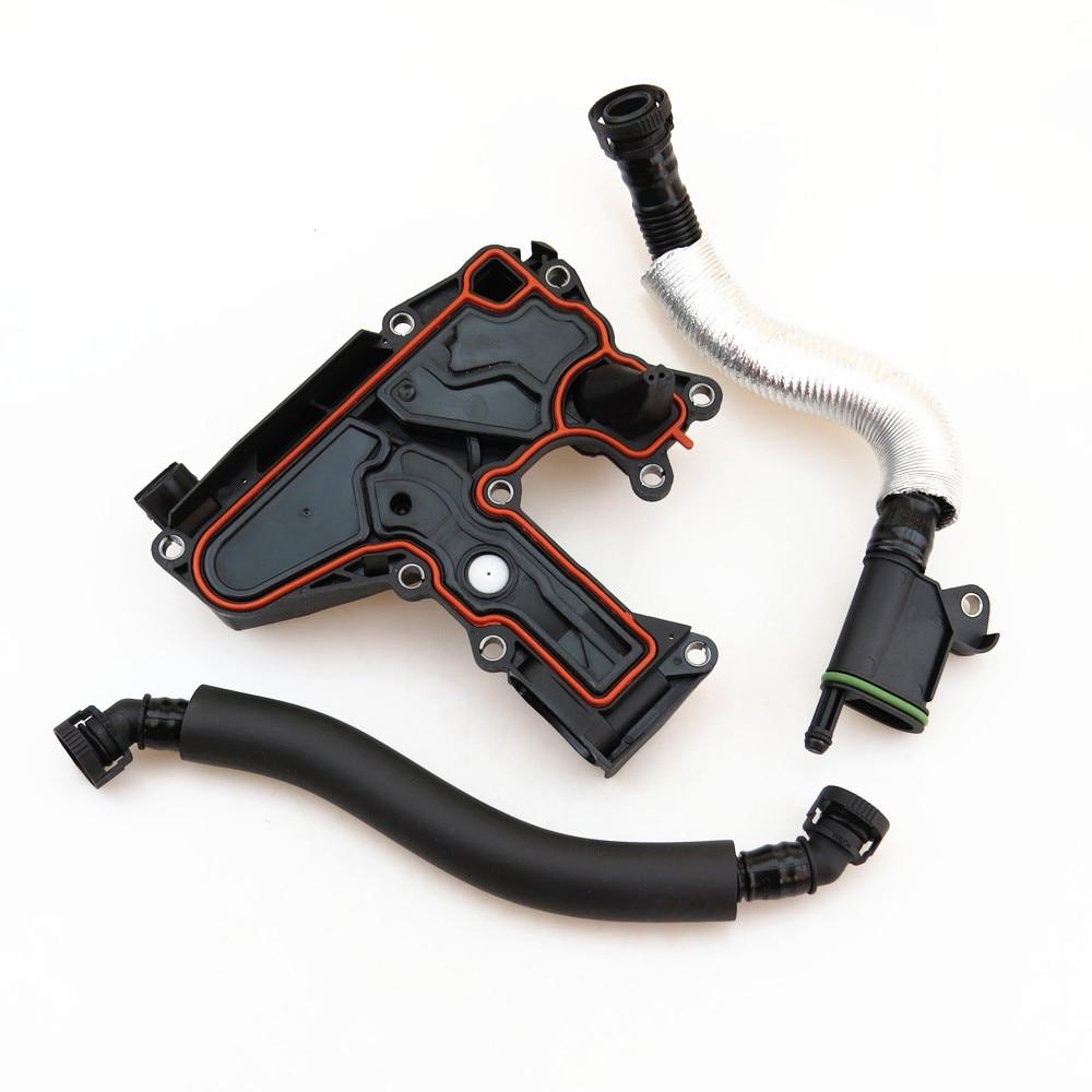 TUKE Oil Separator Valve Breathing Exhaust Vent Hose Set 06H 103 495 B 06J 103 221