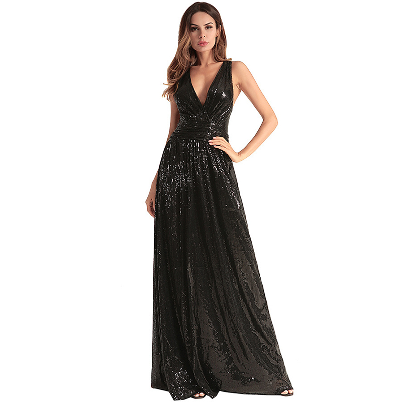 MUXU vestidos sexy gold sequin dress fashion glitter plus size women  clothing patchwork vestidos suspender long dress backless -in Dresses from  Women s ... b6aa3efb60a7