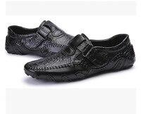 FMZXG ARL 101-117 Causalité Chaussures En Cuir Véritable Glissement sur les Hommes Chaussures de Haute Qualité Chaussures Croc Non-slip chaussures