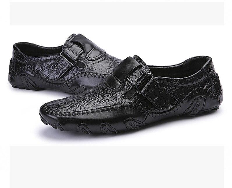 Fmzxg ARL 101-117 повседневная обувь Пояса из натуральной кожи без шнуровки Мужская обувь высокого качества КРОК Нескользящие Обувь