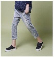 Осень 2016 новые продукты, перечисленные, оригинальный дизайн свободно женские харлан джинсы