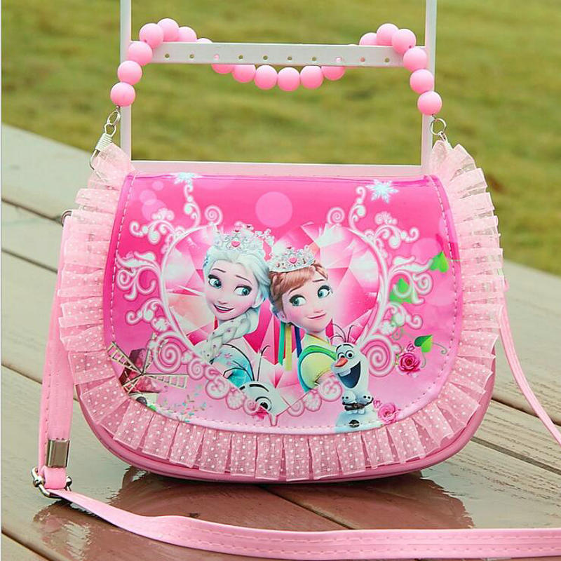 2019 New Arrivals Girl Cute Mini Messenger Bag Fashion Children Princess Pu Handbag Kids Sofia Tote Girls Shoulder Bag Mini Bag
