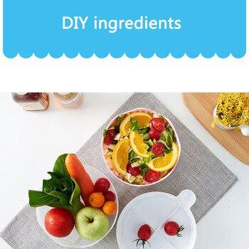 다기능 pp 두꺼운 내구성 과일 샐러드 그릇 뚜껑 잘라 샐러드 크리 에이 티브 물결 모양의 야채와 과일 절단 그릇 과일 접시