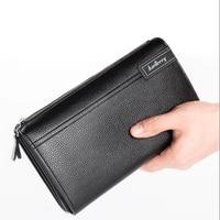 Baellerry Luxury Brand Business Long Men S Wallets PU Leather Clutch Purse Man Handy Bag Large