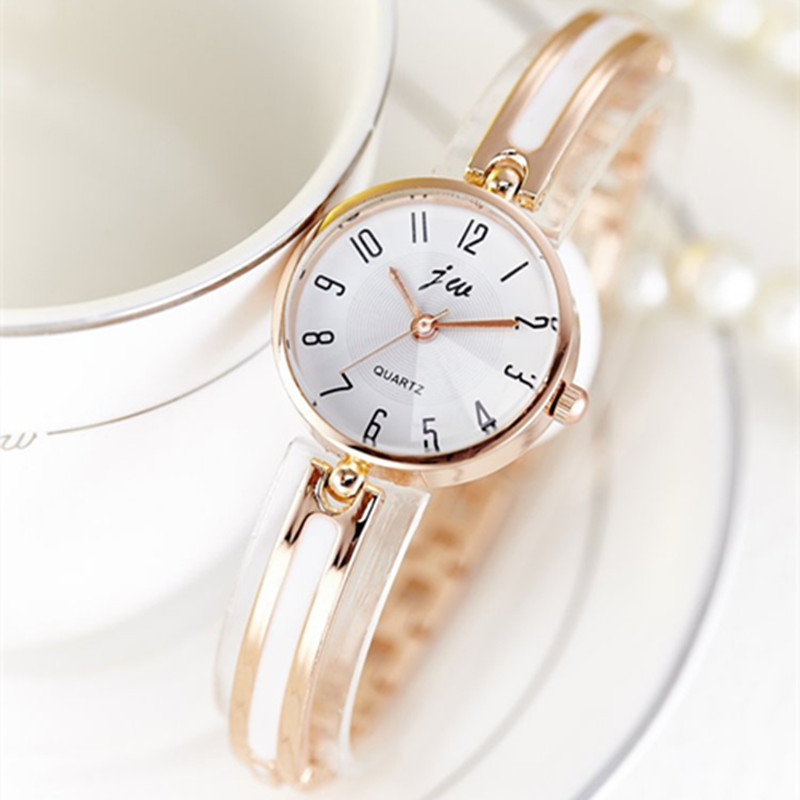 JW 2019 Women Gold Bracelet Watches Luxury Brand Quartz Creative Watch Ladies Steel Casual Dress Wristwatches Female Hours Clock
