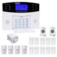 GSM сигнализация Системы клавиатура Управление 4PIR Сенсор 12 дверной контакт
