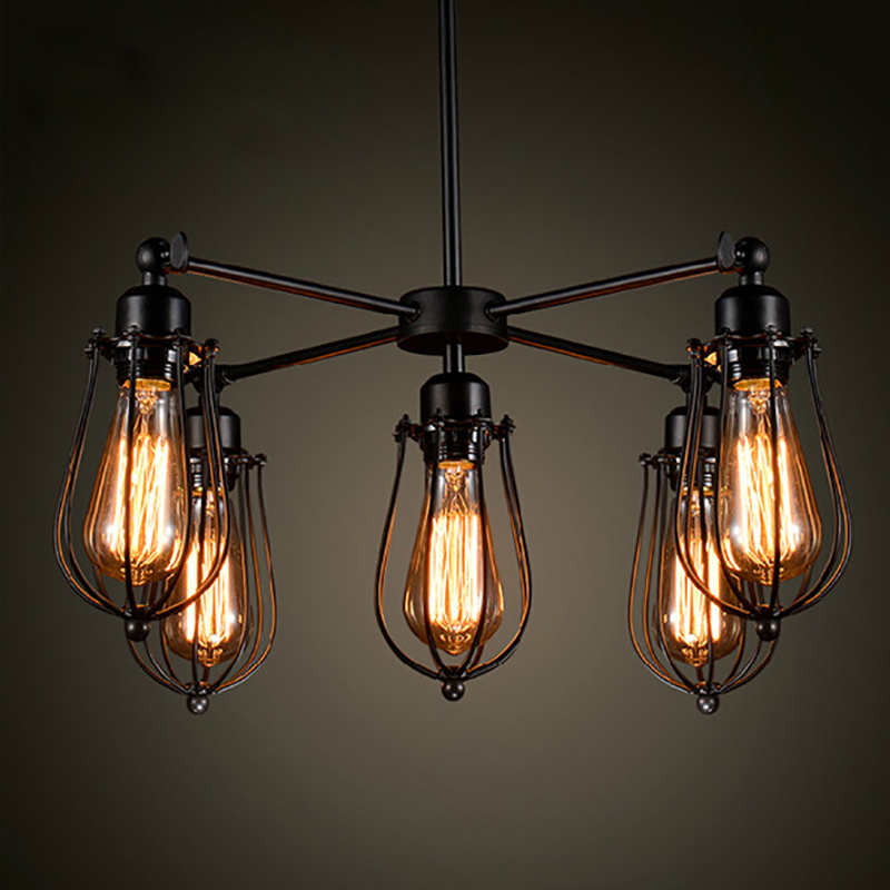 loft industrial lamp nordic retro vintage pendant lights iron metal lampshade spider light luminaire dining room pendant lamps loft style vintage pendant lamp iron industrial retro pendant lamps restaurant bar counter hanging chandeliers cafe room
