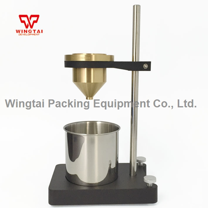 100ml B4 Viscosity cup 4mm Brass Measurement Paint Viscosity Flow Measuring cup usa ford cup ink viscosity cup viscosity measurement cup with tripod 2 3 4mm for paint industry