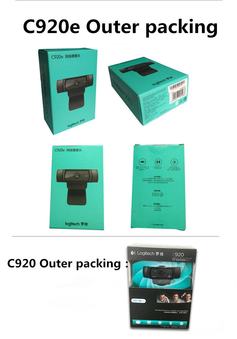 US $56 99 43% OFF|Logitech HD Pro Webcam C920e, Widescreen Video Calling  and Recording,1080p Camera, Desktop or Laptop Webcam,C920 upgrade  version-in