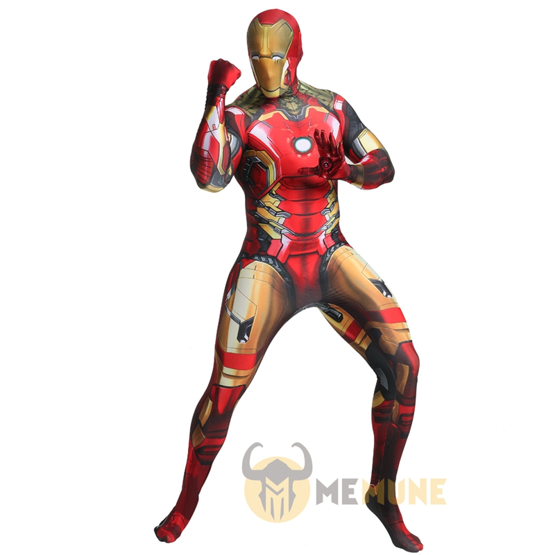 Marvel Superhero Iron Man MK43 The Avengers Role Playing Cosplay Zentai Halloween Carnival Costume(China)