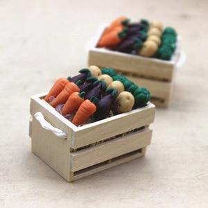 Кукольный домик Миниатюрные овощи с рамкой модель моделирования ролевые игры игрушки игрушечные овощи Ресторан DIY игрушки для детей