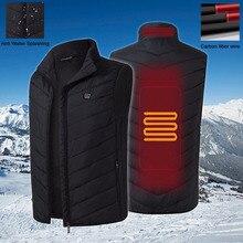 Hommes gilet de chauffage Intelligent garder au chaud gilet USB électricité chauffée équitation randonnée fermeture éclair Sport de plein air hiver gilet veste