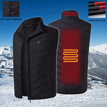 男性インテリジェント加熱ベスト保温チョッキ usb 電気加熱された乗馬ハイキング屋外スポーツ冬のベストのジャケット