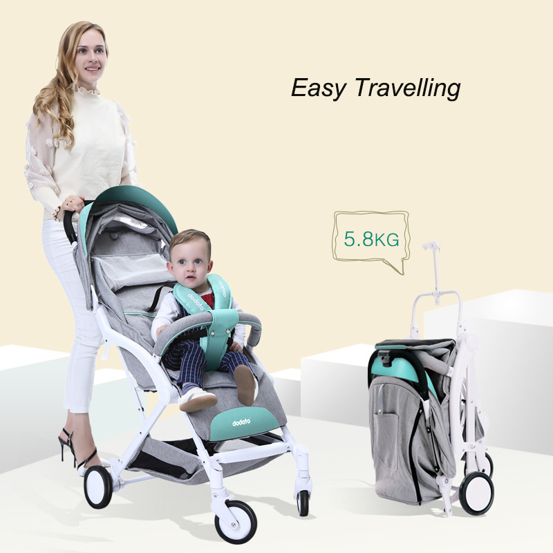Baby Stroller Exceed Light Portable Four Wheel Pocket Garden Car One Key Closed Can Lie Can Sit Can Boarding Baby Strollers children twist car yo walker can sit four wheel scooter baby stroller toy car