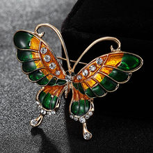 Donia Jewelry Colorful Enamel butterfly for women party anniversary jewelry insects hijab pin scarf clip ladies hat accessories