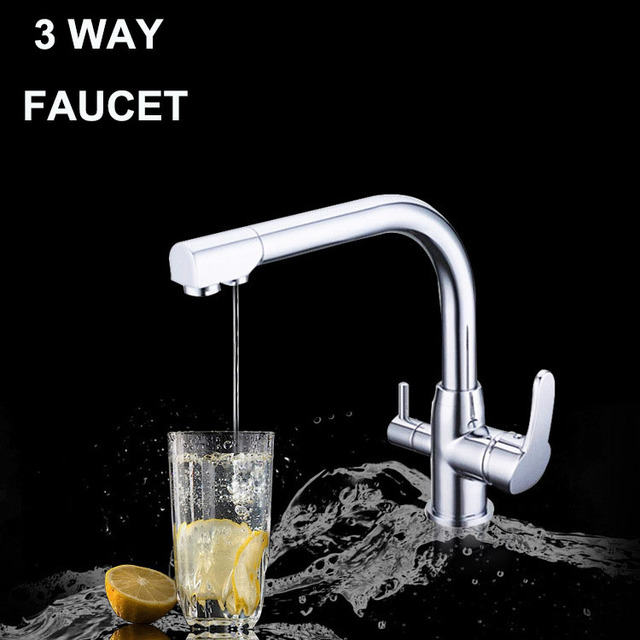 3 In One Water Filter Drinking Tap Three Way Kitchen Faucet Mixer For Your  Household Water