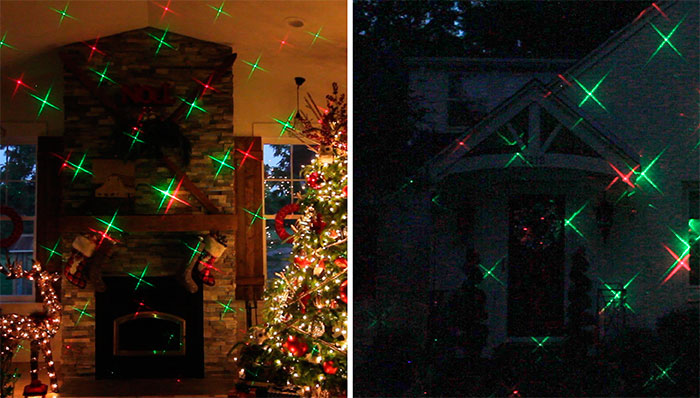 16 new ip 65 outdoor christmas star projector laser light shower xmas decoration lightredgreen - Outdoor Christmas Star Decoration