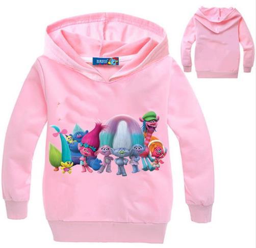 New Grils autumn Cartoon Hoodies Kids sport clothing Childrens hooded sweatshirts jacket Boys clothes