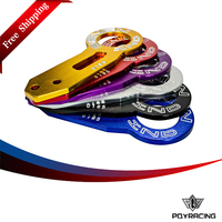 PQY RACING FREE SHIPPING NEW Double Letter Universal BENEN Rear Tow Hook For CIVIC INTEGRA EG