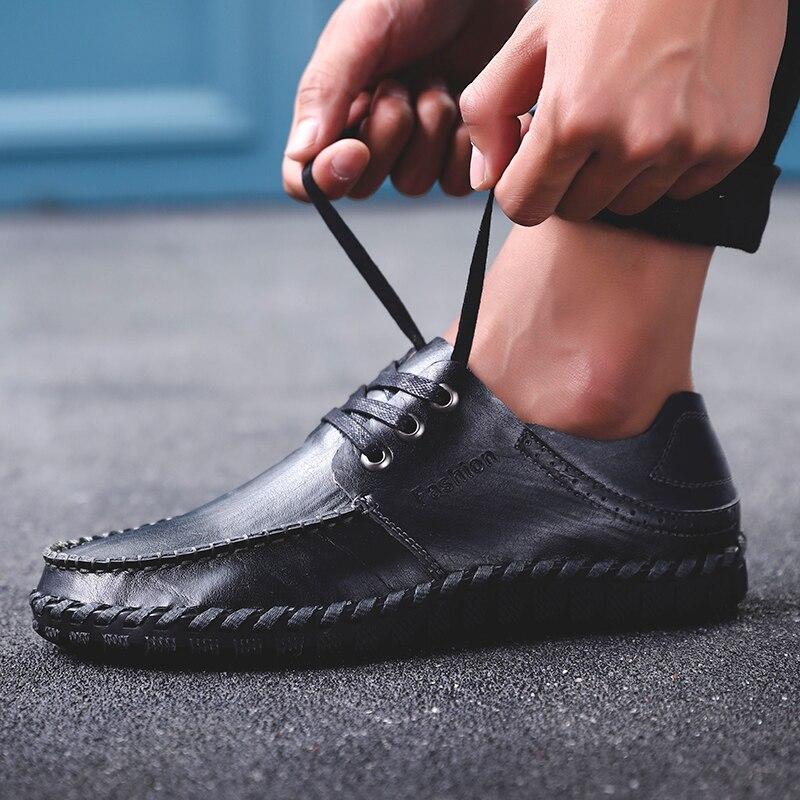 Gota La Marca Dudeli Transpirable yellow Planos 2018 Hombres Para Brown Nuevo Agujeros Verano Black Los De Cuero Casuales Zapatos Envío Lujo r 7BPTn7qw