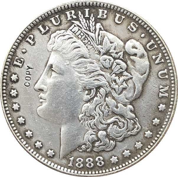 1888 USA Morgan Dollar coins SAO CHÉP