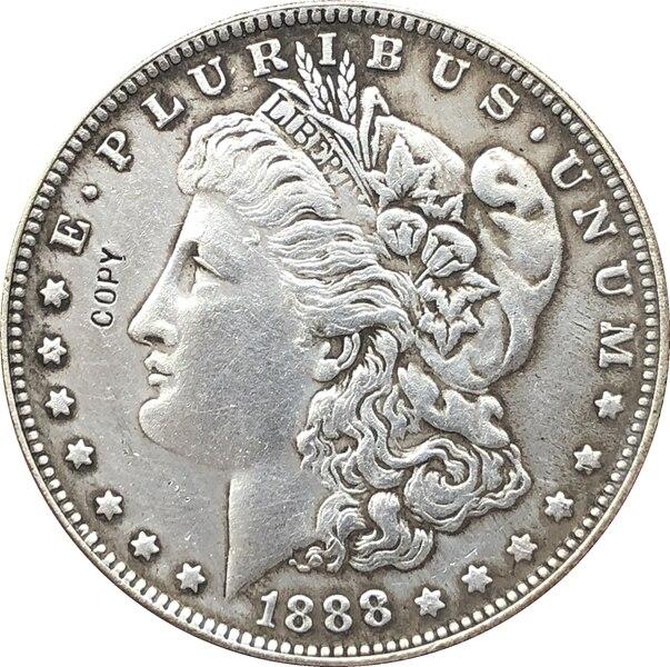 1888 USA Morgan Dollar pièces copie