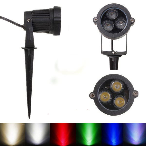 6W 6 colors Outdoor Landscape Garden Light LED Lawn lamp Waterproof LED Flood Spot Light with Rod AC85-265V