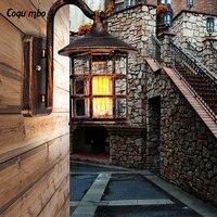 Amerikanischen Land Stil Retro Wandleuchte Außenwandleuchte Lampe Innenhof Licht Für Bar Café Vintage Flurbeleuchtung