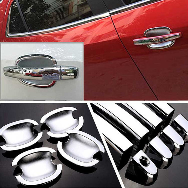 $ 28.19 Non-Rusty Chrome Door Handle Bowl Cover Cup Overlay Trim For Buick Encore