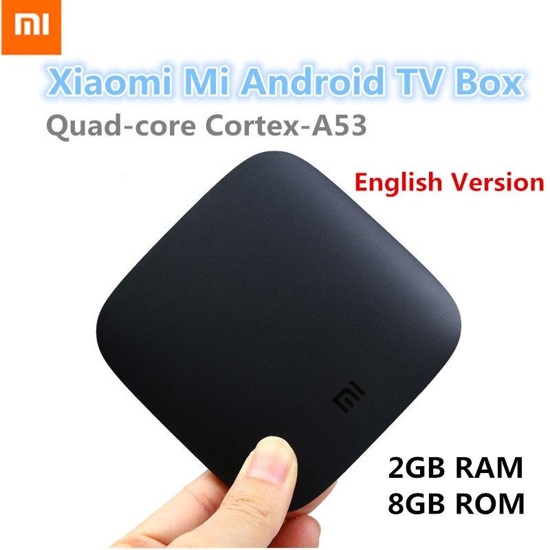 English Version Xiaomi Mi Box Android 6 0 TV Box Quad Core Cortex A53 2G 8G