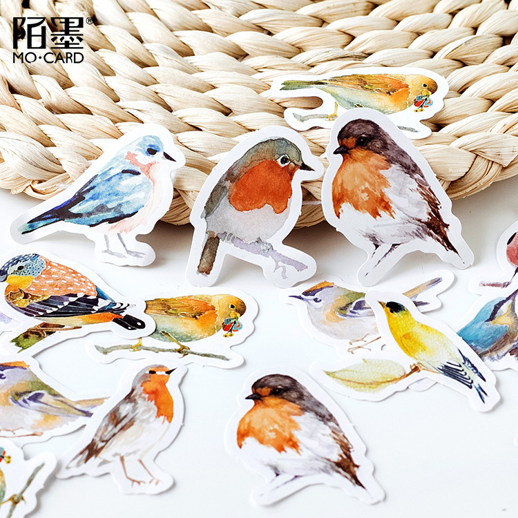 Classic Toys Decorative Stickers Creative Transparent Pvc Cute Romatic Flowers Birds Album Diary Scrapbooking Stickers Pack Kids Toys Gifts Pretty And Colorful