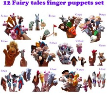 new 73pieces/lot 6.5cm doll Finger puppets toy puzzle animal Christmas cartoon Christmas gift New Year gift