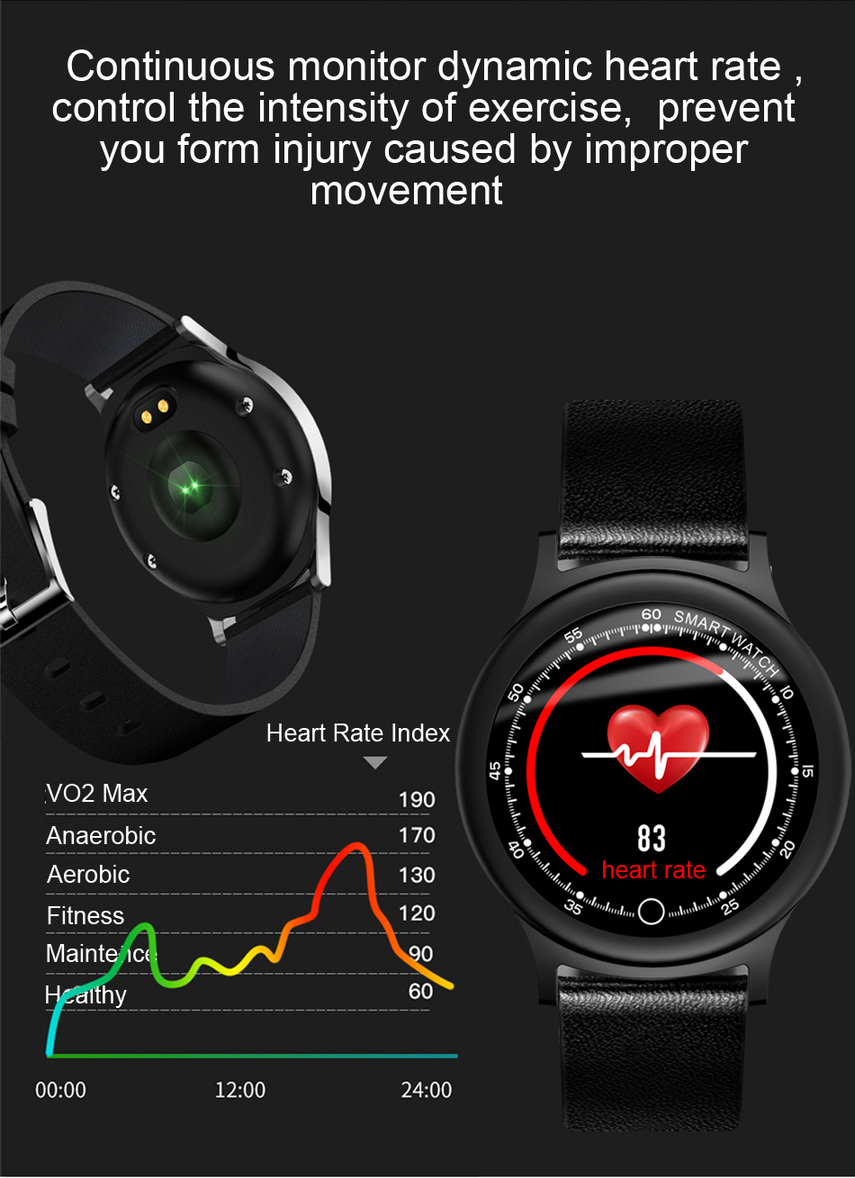 Q28 Smart Watch IP67 Waterproof Wearable Device Bluetooth Pedometer Heart Rate Monitor Men Fashion SmartWatch For AndroidIOS (5)