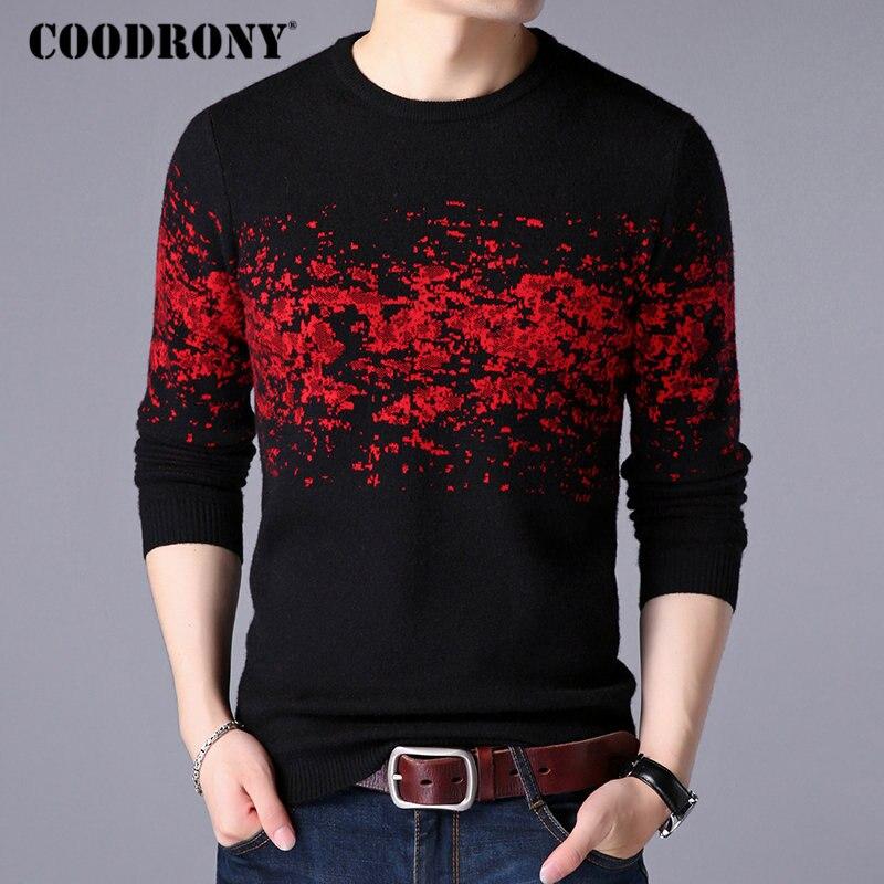 COODRONY hombres suéter Casual o-Cuello suéter de los hombres 2018 ropa de otoño e invierno nueva llegada Sost caliente hombre suéteres de Cachemira 8257