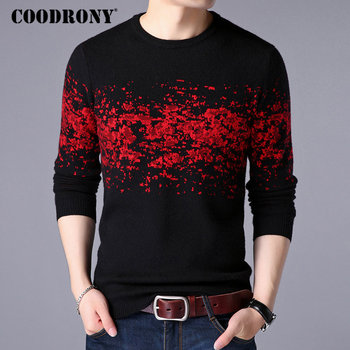 black\red o neck pullover men sweater