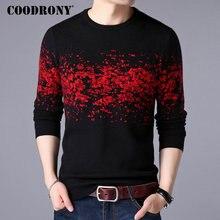 COODRONY sweter mężczyźni Casual O Neck sweter mężczyźni odzież 2020 jesień zima nowy nabytek Top Sost ciepłe męskie swetry kaszmirowe 8257