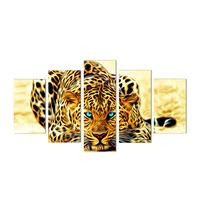 DIY 5D Leopard Diamond Embroidery Painting Cross Stitch Arts Crafts Sewing Home Decor MAR14 45