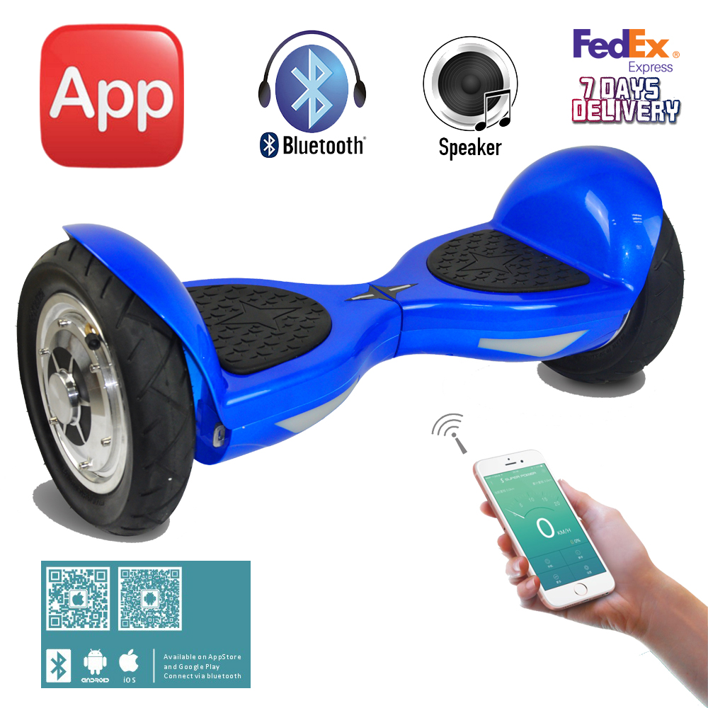 Aliexpress Com Buy App Inch Hoverboard With Bluetooth Two