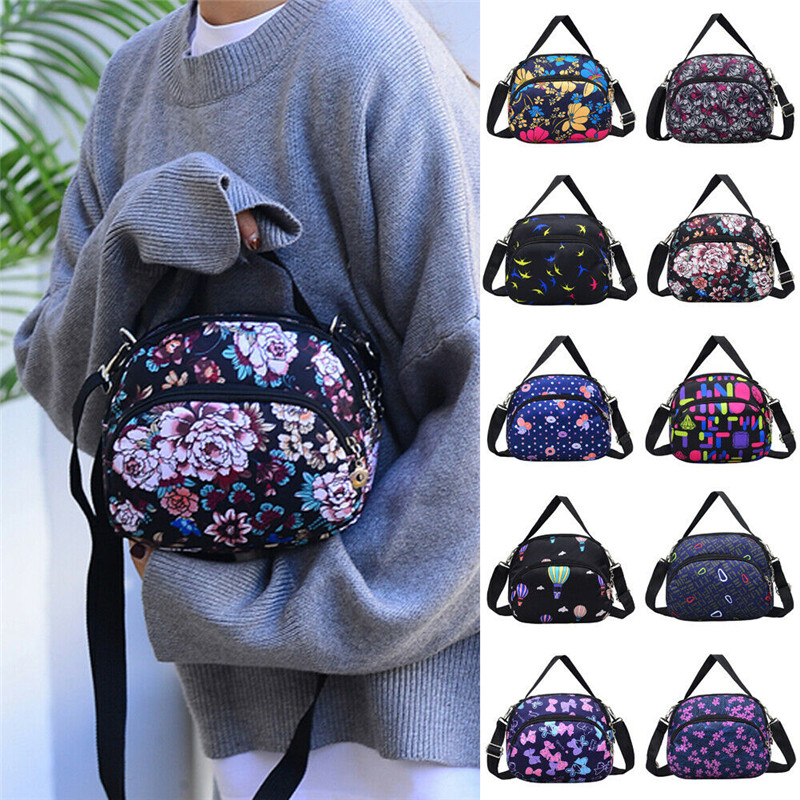 Waterproof Nylon Satchel Cross Body Messenger Handbag Shoulder Bags Purse For Women