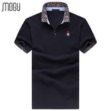 MOGU Polo Shirt With Short Sleeves Men Brand Polo Fashion Turn-down Collar Solid Men's Polo Shirt Plus Size 6XL Polo Shirt Men