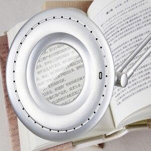 Image 4 - Lâmpada do lupa do diodo emissor de luz, clipe para braço giratório, clipe de mesa para reparar luz em mesa vidro lente de tatuagem de manicure cosmetologia