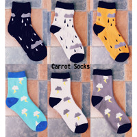 20 Pieces Cartoon Socks Casual Shoes Breathable Summer Cotton Socks